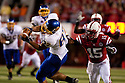 25 September, 2010: South Dakota State tight end Colin Cochart #87 makes the catch against Nebraska cornerback Alfonzo Dennard #15 at Memorial Stadium in Lincoln, Nebraska. Nebraska defeated South Dakota State 17 to 3.