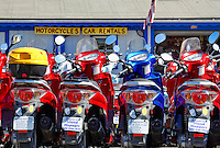 Moped rentals, Oak Bluffs, Martha's Vineyard, Massachusetts, USA