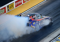 Jun. 29, 2012; Joliet, IL, USA: NHRA funny car driver Tony Pedregon during qualifying for the Route 66 Nationals at Route 66 Raceway. Mandatory Credit: Mark J. Rebilas-