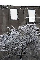 Nevicata a Roma.Snowfall in Rome.La casa della memoria.The house of memory...