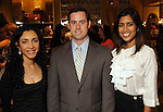From left: Asra Ali with Chris and Divya Brown at the Grand Opening Cocktail Reception at Miu Miu in the Houston Galleria Monday Feb. 27,2012. (Dave Rossman Photo)
