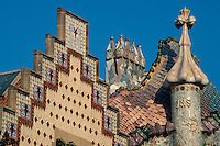 Spanien, Katalonien, Barcelona, Casa Amatller von J. Puig, Casa Batllo von Antoni Gaudi, , Unesco-Weltkulturerbe