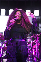 BRIXTON, ENGLAND - JUNE 9: Chaka Khan performing at Cross The Tracks Festival, Brockwell Park on June 9, 2019 in Brixton, England.<br /> CAP/MAR<br /> ©MAR/Capital Pictures