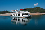 Shasta region of Northern California: Houseboat on Lake Shasta.Photo copyright Lee Foster.  Photo # california-houseboat-lake-shasta-cashas105073