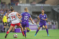 Orlando, FL - Saturday July 01, 2017: Sarah Gorden, Rachel Hill during a regular season National Women's Soccer League (NWSL) match between the Orlando Pride and the Chicago Red Stars at Orlando City Stadium.