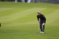 Ricardo Gouveia (POR) on the 9th hole during a wet Saturday's Round 3 of the 2017 Omega European Masters held at Golf Club Crans-Sur-Sierre, Crans Montana, Switzerland. 9th September 2017.<br /> Picture: Eoin Clarke | Golffile<br /> <br /> <br /> All photos usage must carry mandatory copyright credit (&copy; Golffile | Eoin Clarke)