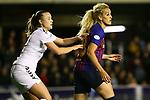 UEFA Women's Champions League 2018/2019.<br /> Quarter Finals.<br /> FC Barcelona vs LSK Kvinner FK: 3-0.<br /> Synne Skinnes Hansen vs Kheira Hamraoui.