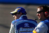 Apr 17, 2009; Avondale, AZ, USA; NASCAR Sprint Cup Series driver David Reutimann during qualifying for the Subway Fresh Fit 500 at Phoenix International Raceway. Mandatory Credit: Mark J. Rebilas-