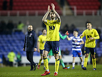 Blackburn Rovers' Charlie Mulgrew applauds his side's travelling supporters at the end of the match <br /> <br /> Photographer Andrew Kearns/CameraSport<br /> <br /> The EFL Sky Bet Championship - Reading v Blackburn Rovers - Wednesday 13th February 2019 - Madejski Stadium - Reading<br /> <br /> World Copyright © 2019 CameraSport. All rights reserved. 43 Linden Ave. Countesthorpe. Leicester. England. LE8 5PG - Tel: +44 (0) 116 277 4147 - admin@camerasport.com - www.camerasport.com