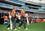 3rd February 2019, Optus Stadium, Perth, Australia; Australian Big Bash Cricket League, Perth Scorchers versus Melbourne Stars; Josh Inglis of the Perth Scorchers pats Michael Klinger on the back as he makes his way to the crease one last time after announcing his retirement