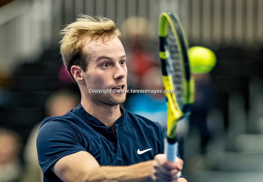 Alphen aan den Rijn, Netherlands, December 22, 2019, TV Nieuwe Sloot,  NK Tennis, Final men single: Botic van de Zandschulp (NED)<br /> Photo: www.tennisimages.com/Henk Koster
