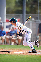 Dartmouth Big Green center fielder Matt Feinstein (23) at bat during a game against the Villanova Wildcats on March 3, 2018 at North Charlotte Regional Park in Port Charlotte, Florida.  Dartmouth defeated Villanova 12-7.  (Mike Janes/Four Seam Images)
