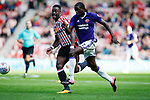 Clayton Donaldson of Sheffield Utd charges forward during the Championship match at the Stadium of Light, Sunderland. Picture date 9th September 2017. Picture credit should read: Simon Bellis/Sportimage
