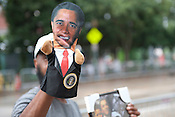 Obama puppet vendor outside of the Convention Center on Tuesday September 4th 2012
