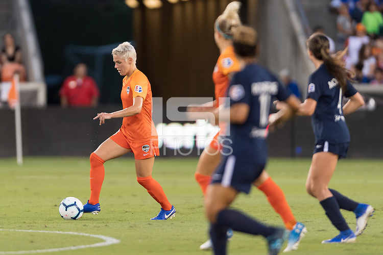 Houston, TX - Saturday August 24, 2019: NWSL regular season match between the Houston Dash and Sky Blue FC at BBVA Stadium.