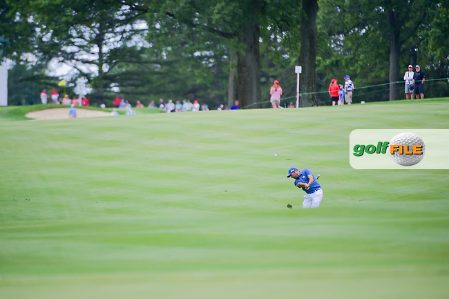 Sergio Garcia (ESP) hits his approach shot on 8 during Sunday's final round of the World Golf Championships - Bridgestone Invitational, at the Firestone Country Club, Akron, Ohio. 8/6/2017.<br /> Picture: Golffile | Ken Murray<br /> <br /> <br /> All photo usage must carry mandatory copyright credit (&copy; Golffile | Ken Murray)