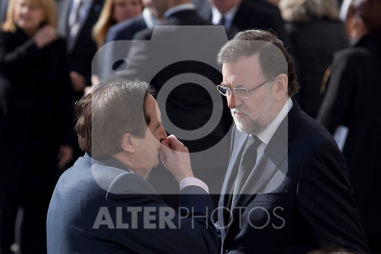 President of Spain Mariano Rajoy attends the 11M March 11, 2004 terrorist attempt remember mass at Almudena Cathedral in Madrid, Spain. March 11, 2014. (ALTERPHOTOS/Victor Blanco)