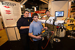 Skills Active Cymru<br /> Students Brandon Wilson &amp; Jack Owen from<br /> Dylan Thomas School with Corporal Leigh Higgins from Bomb Disposal.<br /> Cardiff International Arena<br /> 23.10.14<br /> &copy;Steve Pope-FOTOWALES