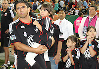 Jaime with his daughters during festivities surrounding the final appearance of Jaime Moreno in a D.C. United uniform, at RFK Stadium, in Washington D.C. on October 23, 2010. Toronto won 3-2.