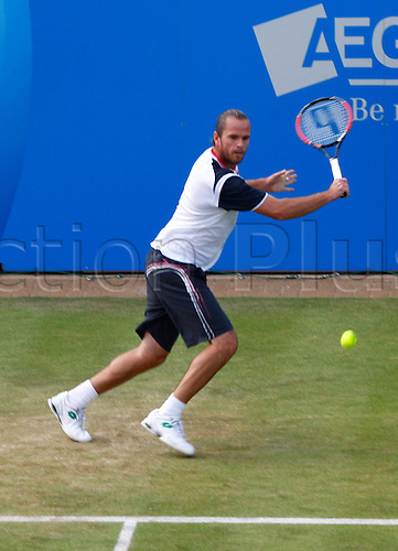 15.06.12 Queens Club, London, ENGLAND: ..Xavier Malisse BEL..Xavier Malisse BELversus David Nalbandian ARG..during day five of the Aegon Championships at Queens Club ..on June 15, 2012 in London , England.........