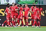 0:1 Tor, Jubel, v.l. Alvaro Odriozola, Thomas Mueller, Robert Lewandowski, David Alaba, Mickael ''Michael'' Cuisance, Serge Gnabry, Leon Goretzka, Torschuetze Kingsley Coman (Bayern)<br />Wolfsburg, 27.06.2020: nph00001: , Fussball Bundesliga, VfL Wolfsburg - FC Bayern Muenchen<br />Foto: Tim Groothuis/Witters/Pool//via nordphoto<br /> DFL REGULATIONS PROHIBIT ANY USE OF PHOTOGRAPHS AS IMAGE SEQUENCES AND OR QUASI VIDEO<br />EDITORIAL USE ONLY<br />NATIONAL AND INTERNATIONAL NEWS AGENCIES OUT