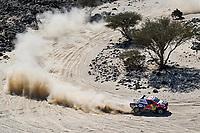 5th January 2020, Jeddah, Saudi Arabia;  300 Al-Attiyah Nasser qat, Baumel Matthieu fra, Toyota Hilux, Toyota Gazoo Racing during Stage 1 of the Dakar 2020 between Jeddah and Al Wajh, 752 km - Editorial Use