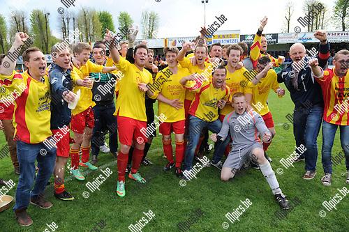 2014-04-20 / Voetbal / seizoen 2013-2014 / Kalmthout SK viert de titel in 4e provinciale A<br /><br />Foto: mpics.be