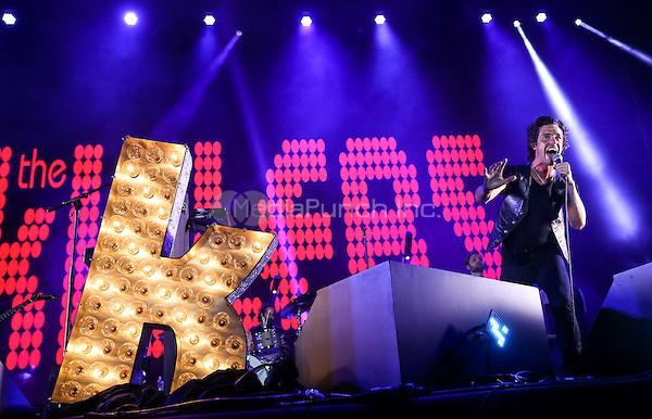 LAS VEGAS, NV - September 27: ***HOUSE COVERAGE*** The Killers surprise set during Brandon Flowers performance at Life Is Beautiful Festival in Las Vegas, NV on September 27, 2015. Credit: Erik Kabik Photography/ MediaPunch