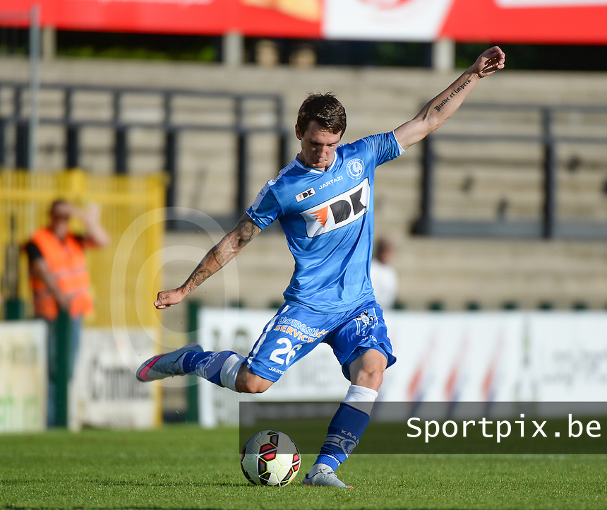 20150711 - ROESELARE , BELGIUM : Gent's Benito Raman pictured during a friendly match between Belgian second division team KSV Roeselare and Belgian first division soccer team AA Gent , during the preparations for the 2015-2016 season, Saturday 11 th July 2015 in Roeselare . PHOTO DAVID CATRY