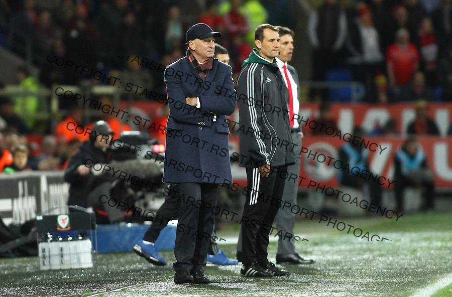 (copyright &amp; photo: STARSPORT)<br /> 12.11.16 World Cup Qualifier -  European Group D - Wales v Serbia -<br /> Manager of Serbia Slavolijub Muslin