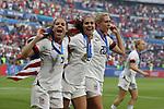 FIFA Women's World Cup France 2019 - Final USA vs NED in Lyon, on January 19, 2019. 5 Kelley O Hara (USA), 13 Alex Morgan (USA), 20 Allie Long (USA)