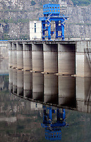The Ertan Dam in Yunnan Province, China. The Dam was built on the Yalon river in Yunnan, the massive Dam is the second tallest in China..10 Jul 2007