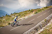 Valentin Madouas (FRA/Groupama - FDJ) up the finish climb & the highest peak of the 2020 #TdF: the Col de la Loze (HC/2304m/21,5km @7,8%)<br /> <br /> Stage 17 from Grenoble to Méribel - Col de la Loze (170km)<br /> <br /> 107th Tour de France 2020 (2.UWT)<br /> (the 'postponed edition' held in september)<br /> <br /> ©kramon