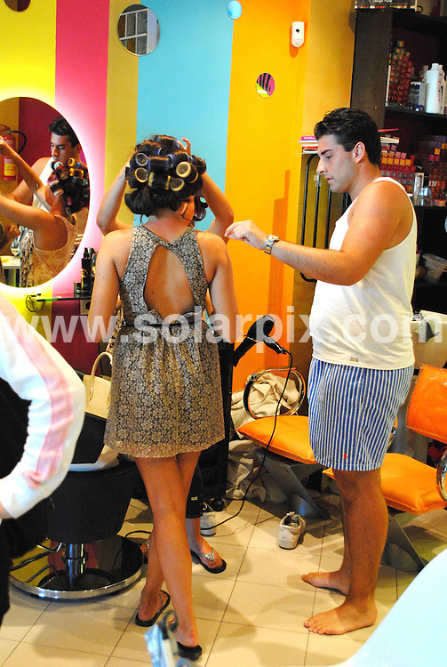 **ALL ROUND EXCLUSIVE PICTURES FROM SOLARPIX.COM**                                             **WORLDWIDE SYNDICATION RIGHTS**                                                                                  Caption: Towie James Argent & Jessica Wright visit a local beauty salon called golden Tarts in Marbella to get some last minute pampering after their week of boot camp gruelling training .The TOWIE star, who's become known for carrying more than a few extra pounds, is competing in the 26-mile race to raise money for Cancer Research UK. .Arge had his nails done & eyebrows threaded whilst Jessica had her hair styled and a spray tan.                                                                         This pic:  James Argent & Jessica Wright                                                                                            JOB REF: 14572       CMK      DATE: 15.03.2012                                                           **MUST CREDIT SOLARPIX.COM OR DOUBLE FEE WILL BE CHARGED**                                                                      **MUST AGREE FEE BEFORE ONLINE USAGE**                               **CALL US ON: +34 952 811 768 or LOW RATE FROM UK 0844 617 7637**