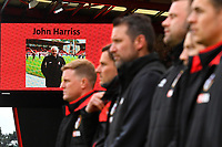 One minute's applause was held for former  groundsman John Harris during AFC Bournemouth vs Stoke City, Premier League Football at the Vitality Stadium on 3rd February 2018