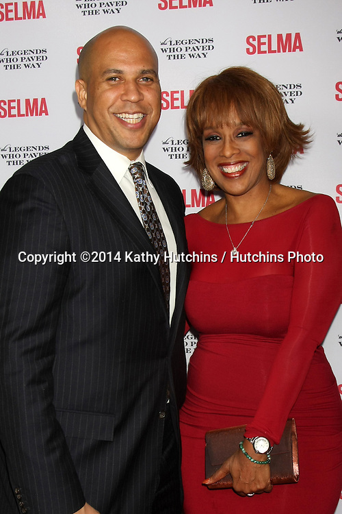 "SANTA BARBARA - DEC 6:  Cory Booker, Gayle King at the ""Selma"" & Legends Who Paved the Way Gala at the Bacara Resort & Spa on December 6, 2014 in Goleta, CA"