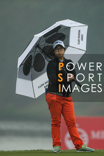 Jeong Min Cho of South Korea plays at the 18th hole during Round 4 of the World Ladies Championship 2016 on 13 March 2016 at Mission Hills Olazabal Golf Course in Dongguan, China. Photo by Victor Fraile / Power Sport Images