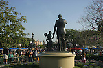 WALT DISNEY & MICKEY MOUSE STATUES at DISNEYLAND