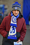 A Chelsea fan makes his way to the stadium before the start of the Premier League match at Stamford Bridge, London. Picture date: 30th November 2019. Picture credit should read: Robin Parker/Sportimage