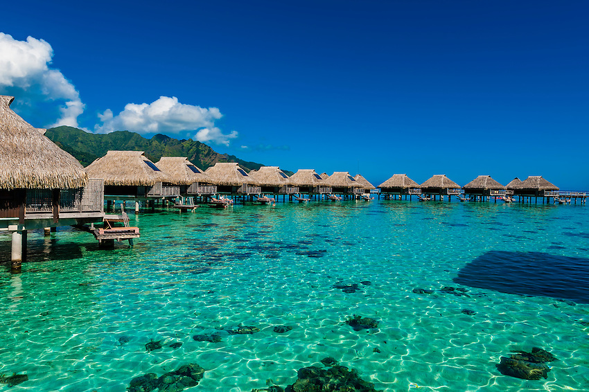 Hilton Moorea Lagoon Resort, island of Moorea, French Polynesia.