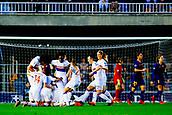 28th March 2018, Mini Estad, Barcelona, Spain; Womens Champions League football, quarter final, 2nd leg, Barcelona Women versus Lyon Women; Eugénie Le Sommer of Olympique Lyonnais celebrates scoring her goal for 0-1