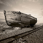 Boat at Dungeness beach