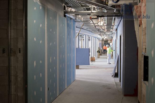 March 8, 2017; O'Neill Hall 3rd floor under construction (Photo by Matt Cashore/University of Notre Dame)
