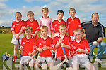 BLITZ: The Killorglin U10's hurling team playing in the hurling blitz at Abbeydorney on Saturday front l-r: Richard O'Sullivan, Gearoid Fennessy, Se?an Casey and Christopher Creedan. Back l-r: Donal O'Sullivan, Kieran Kelleher, Padraig Dillon, Gary Foley, Daniel Casey and Micky Foley (coach).
