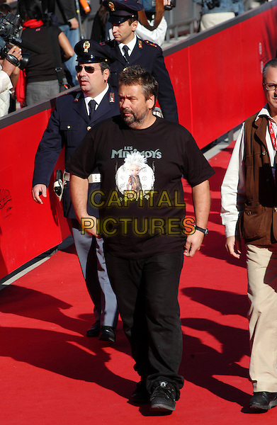 "LUC BESSON.Presenting the making of and the trailer of ""Arthur and the Minimoys"" at the Rome Film Festival, Rome, Italy..October 16th, 2006.Ref: CAV.full length black tee shirt jeans denim.www.capitalpictures.com.sales@capitalpictures.com.©Luca Cavallari/Capital Pictures."