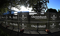 Christchurch and Hagley Oval branding. <br /> New Zealand Blackcaps v England. 5th ODI International one day cricket, Hagley Oval, Christchurch. New Zealand. Saturday 10 March 2018. &copy; Copyright Photo: Andrew Cornaga / www.Photosport.nz