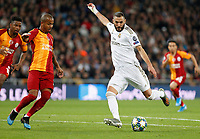 Real Madrid CF's Karim Benzema  during UEFA Champions League match, groups between Real Madrid and Galatasaray SK at Santiago Bernabeu Stadium in Madrid, Spain. November, Wednesday 06, 2019.(ALTERPHOTOS/Manu R.B.)<br /> Champions League 2019/2020  <br /> Real Madrid - Galatasaray<br /> Foto Alterphotos / Insidefoto <br /> ITALY ONLY