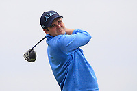 Jake  Whelan (Newlands) on the 9th tee during Round 1 of The East of Ireland Amateur Open Championship in Co. Louth Golf Club, Baltray on Saturday 1st June 2019.<br /> <br /> Picture:  Thos Caffrey / www.golffile.ie<br /> <br /> All photos usage must carry mandatory copyright credit (© Golffile | Thos Caffrey)