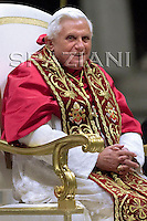 Pope Benedict XVI  the academic year of ecclesiastic universities at the Vatican.October 25, 2007
