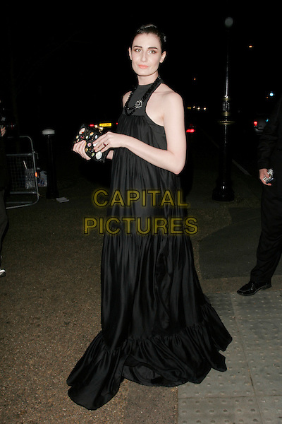 ERIN O'CONNOR .Vivienne Westwood Opus - launch party, The Serpentine Gallery, London, England. .February 12th, 2008 .full length black sleeveless dress jewel encrusted clutch bag purse.CAP/AH.©Adam Houghton/Capital Pictures.